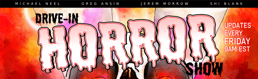 Drive-In Horror Show banner. Please enable images to read the comics :)